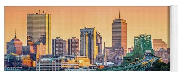 Boston Skyline Yoga Mat