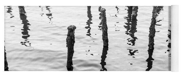 Boston Wharf Ruins Yoga Mat