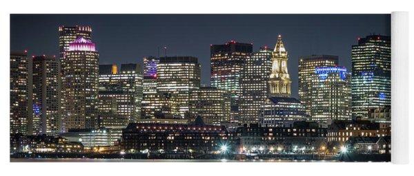 Boston's Skyline From Lopresti Park Yoga Mat