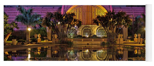 Botanical Building At Night In Balboa Park Yoga Mat
