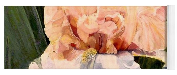 Botanical Peach Iris Yoga Mat