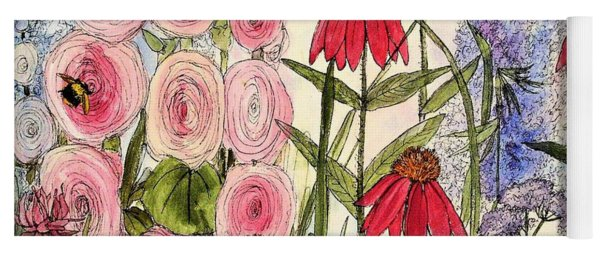 Botanical Wildflowers Yoga Mat