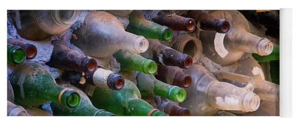 Bottles And Cement Wall Yoga Mat