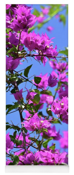 Bougainvillea And Sky Yoga Mat