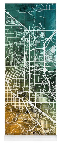 Boulder Colorado City Map Yoga Mat