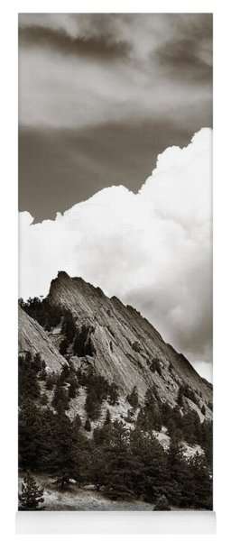 Large Cloud Over Flatirons Yoga Mat