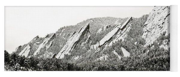 Boulder Flatirons Colorado 1 Yoga Mat