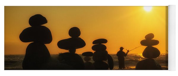 Boulders By The Sea Yoga Mat