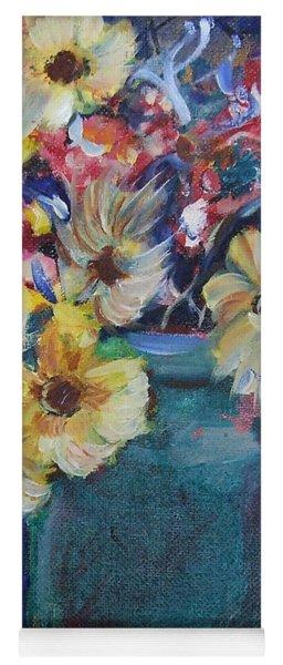Bouquet Flowers Of Blue  Yoga Mat