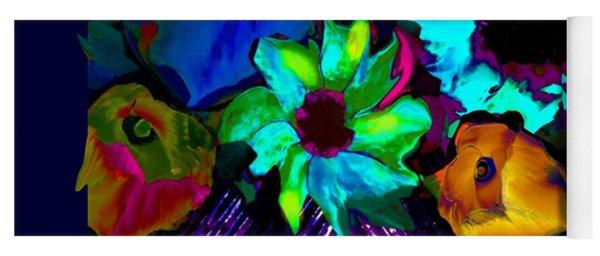 Bouquet In Fauve Yoga Mat