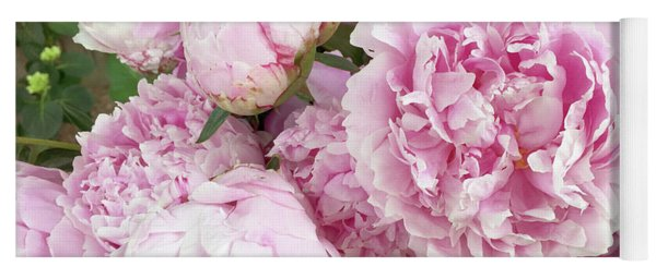 Bouquet Of Pink Peonies - Garden Peonies - Pink Shabby Chic Peony Prints Home Decor Yoga Mat