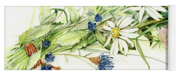Bouquet Of Wildflowers Yoga Mat