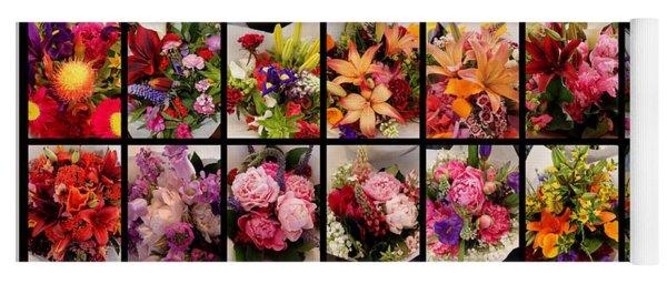 Bouquets Yoga Mat