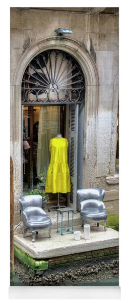 Boutique On Canal In Venice Yoga Mat