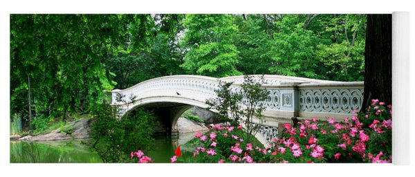 Bow Bridge In Springtime Yoga Mat