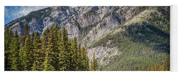 Bow River Banff Alberta Yoga Mat