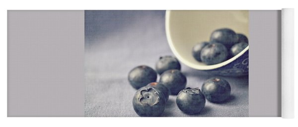 Bowl Of Blueberries Yoga Mat