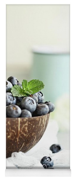 Bowl Of Fresh Blueberries Yoga Mat