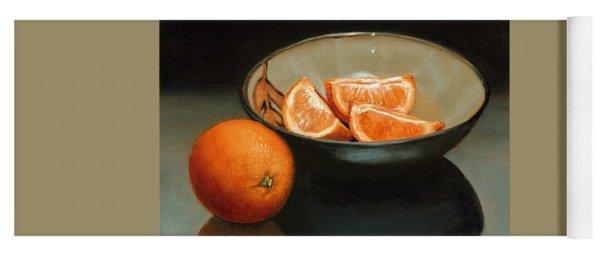 Bowl Of Oranges Yoga Mat