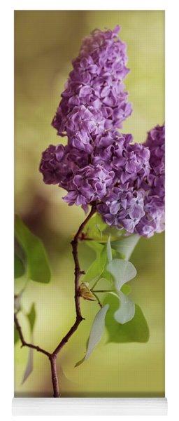 Branch Of Fresh Violet Lilac Yoga Mat