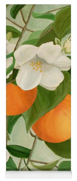 Branch Of Orange Tree In Bloom Yoga Mat