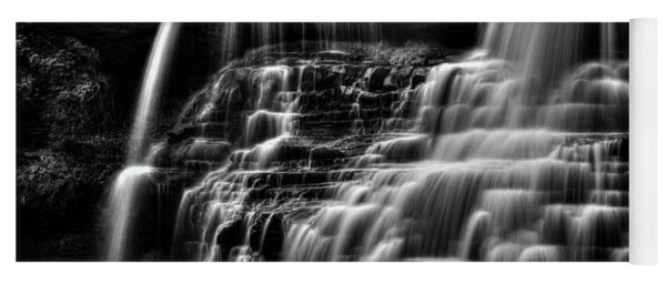 Brandywine Falls At Cuyahoga Valley National Park B W Yoga Mat