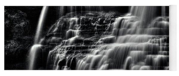 Brandywine Falls At Cuyahoga Valley National Park B W Yoga Mat