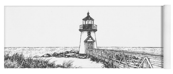 Brant Point Lighthouse Yoga Mat