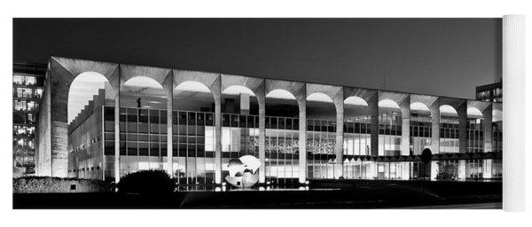 Brasilia - Itamaraty Palace - Black And White Yoga Mat