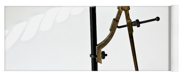 Brass Compass And Pencil Yoga Mat