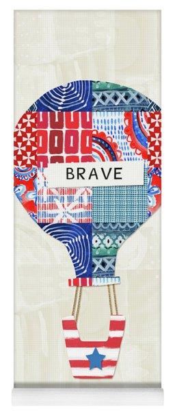 Brave Balloon- Art By Linda Woods Yoga Mat
