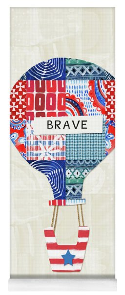 Brave Balloon- Art By Linda Woods Yoga Mat