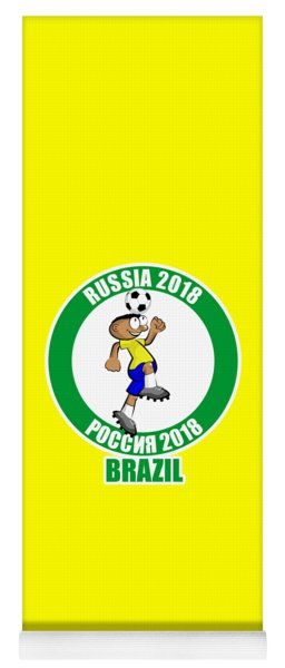 Brazil In The Soccer World Cup Russia 2018 Yoga Mat