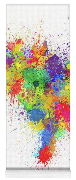 Brazil Paint Splashes Map Yoga Mat