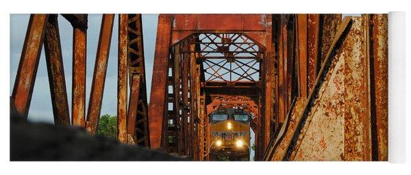 Brazos River Railroad Bridge Yoga Mat