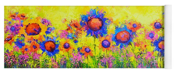 Breath Of Sunshine - Modern Impressionist Artwork - Palette Knife Work Yoga Mat