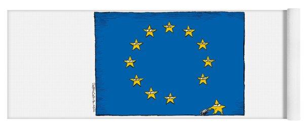 Brexit Eu Flag  Yoga Mat