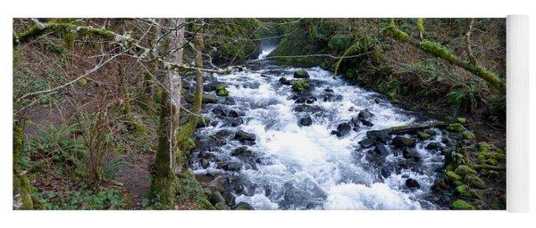 Bridal Veil Creek Below The Falls Yoga Mat