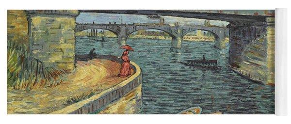 Bridge Across The Seine At Asnieres Yoga Mat