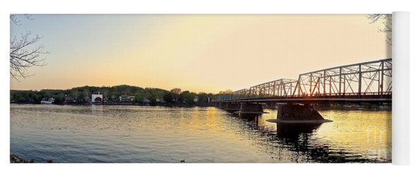 Bridge And New Hope At Sunset Yoga Mat