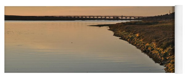 Bridge And Ria At Sunset In Quinta Do Lago Yoga Mat