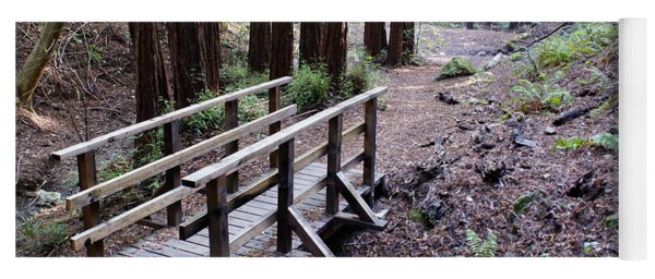 Bridge In The Redwoods Yoga Mat