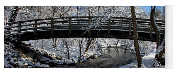 Bridge In Winter Yoga Mat
