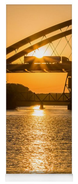 Yoga Mat featuring the photograph Bridge Sunrise #2 by Patti Deters