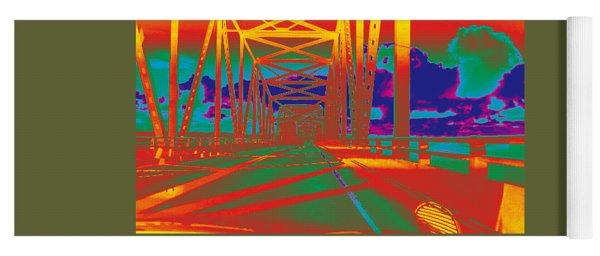 bridge to Astoria #4 Yoga Mat
