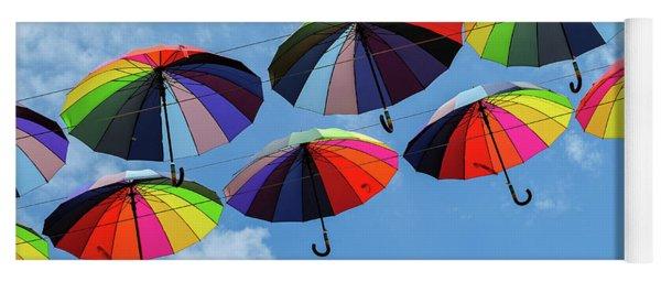 Bright Colorful Umbrellas  Yoga Mat