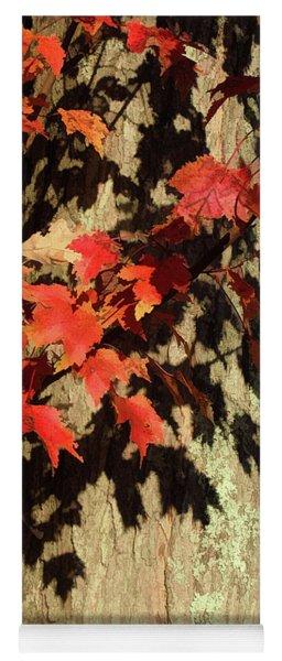 Bright Leaves, Deep Shadows Yoga Mat