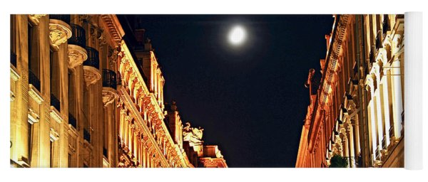 Bright Moon In Paris Yoga Mat