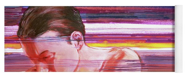 Yoga Mat featuring the painting Bright Silence by Rene Capone