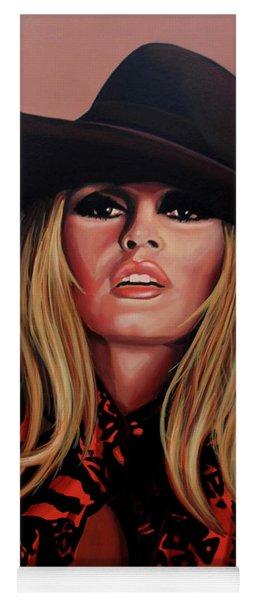 Brigitte Bardot Painting 1 Yoga Mat
